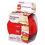 Sistema Microgolf Easy Eggs eierkoker, 271 ml, rood