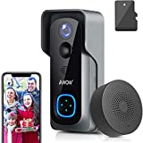 Видео дверной звонок с камерой + комнатный гонг, AWOW 1080P HD видео ...