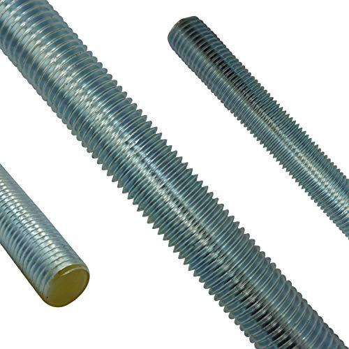 1000 mm de largo 975//976 DIN 8.8 galvanizado M4 1 varilla roscada