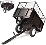 D + L tippevogn 300 kg RIDE-ON MOWER LAWN TRACTOR TILTING ATV Quad trailer ...