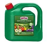 Substral Gartendünger Universal, Flüssigdünger für alle Blumen, Sträucher, Bäume, Beeren, Obst und Gemüse mit natürlichen Biostimulanzien, 4...