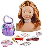 Götz 1192054 Haarwerk mit roten Haaren und braunen Augen - 28 cm hoher...