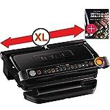 Tefal OptiGrill + Plus XL grill surface intelligent contact grill + Tefal recipe book, 9 grill programs, ...