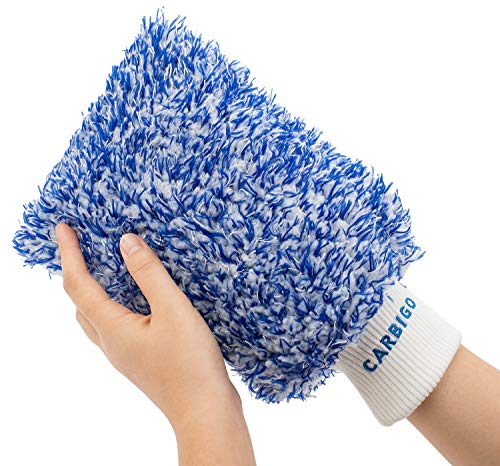 Carbigo® Profi Waschhandschuh Auto – Extrem saugstarker Autowaschhandschuh...