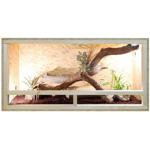 REPITERRA Terrarium für Reptilien & Amphibien, Holzterrarium mit Seitenbelüftung 120x60x60 cm