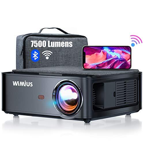 Beamer, WiMiUS 7500 L Full HD 1080P WiFi Bluetooth Beamer Unterstützung 4K...