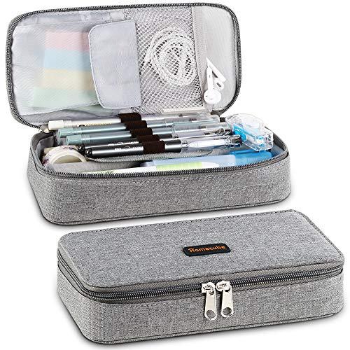 Federmäppchen Schwarz Federmäppchen Homecube Mäppchen Schlamperbox Schlamperetui Pencil Case Stifteetui Stiftetasche Federtasche Stiftemappe mit großer Kapazität