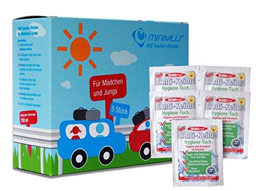Ecosharkz Notfall-WC Bundle für Kinder für dringende kleine Bedürfnisse im Auto, im Stau unterwegs oder anderswo mit Hand-Desinfektionstüchern (5...