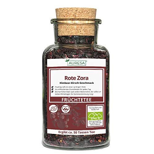 AURESA Loser Früchtetee im Glas | Tee Rote Zora mit Beeren - 120g |...