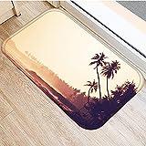 OPLJ Coconut Beach Sea Breeze Printed Doormat, ...