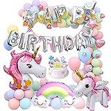 MMTX enhjørning fest pige fødselsdag dekoration balloner med ...