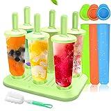 MMTX 6 Eisformen Popsicle Formen EIS am Stiel BPA Frei Set,3...