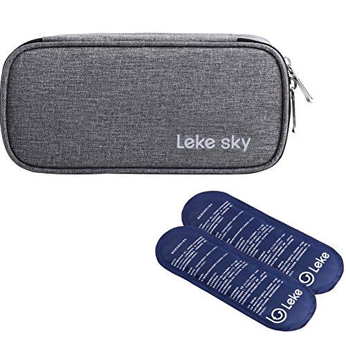 Lekesky Insulin Kühltasche Diabetiker Tasche für Medikamente Thermotasche, Grau