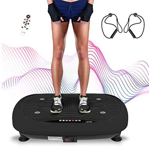 Ativafit Vibrationsplatte, Vibration Shaper Platte Trainingsgerät für Ganzkörper mit LCD Monitor, Fitness Home Vibrationsgerät Vibrationstrainer...