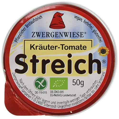 Zwergenwiese Kräuter-Tomate 50 g Bio Brotaufstrich Vegetarisch, 12er Pack (12 x 50 g)