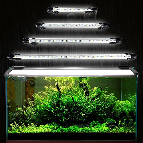 DOCEAN Aquarium LED Beleuchtung Leuchte Lampe 21 LEDs 5050SMD 38CM Lighting für Fisch Tank EU Stecker weißlicht Wasserdicht