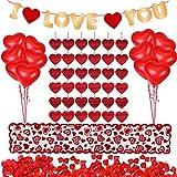 Valentinsdag dekorasjonssett 1000 stykker røde rosenblader ...