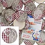 MamboCat набор крышек из 50 предметов TO82 дерево-сердце красно-белый I ...