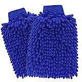 ecom delivery® ⭐⭐⭐⭐⭐ Autowaschhandschuh Mikrofaser zur Autoreinigung...