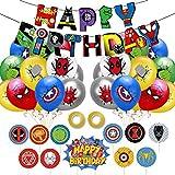 Yisscen superheltballoner, latexballoner med bånd, ...