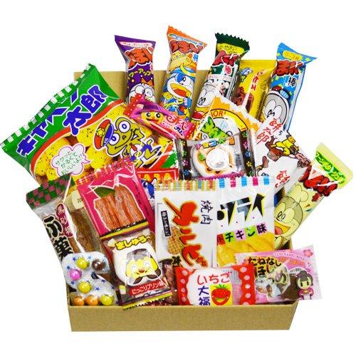 Japanische Süßigkeit Dagashi Kasten 20pcs Umaibo Imbiss Gumi Kartoffelchip...