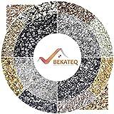 BEKATEQ BK-600EP Steinteppich Set - Grigio Bardiglio -25kg Marmorkies + 1,5kg Bindemittel