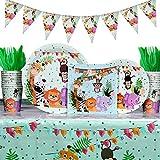 Heboland Jungle Jungle Party Bordservice Fødselsdagssæt til børn ...