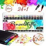 Pinselstifte Set, 24 Aquarell Pinselstifte + 1...