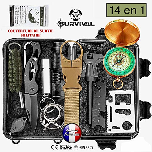 Totally Amazing LC-dolida Survival Kit 15 in 1 Survival Kit Camping Bushcraft,