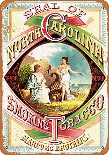 Yohoba 1879 North Carolina Räucher-Tabak, Vintage-Look, 30,5 x 45,7 cm