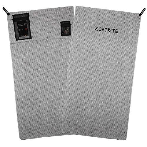 Zoegate Sporthandtuch Fitness-Handtuch fürs Fitnessstudio Mikrofaserhandtuch Mikrofaser Handtücher mit Reißverschluss-Taschen Gym Handtuch Fitness...