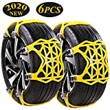 Vicelec snow chains, 2020 upgrade universal snow chains, 6 pieces anti-slip chains, for car SUV ...
