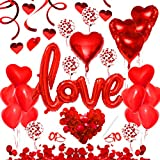 Bluelves 49X Red Love Balloons, Romantic Decoration, XXL Love ...