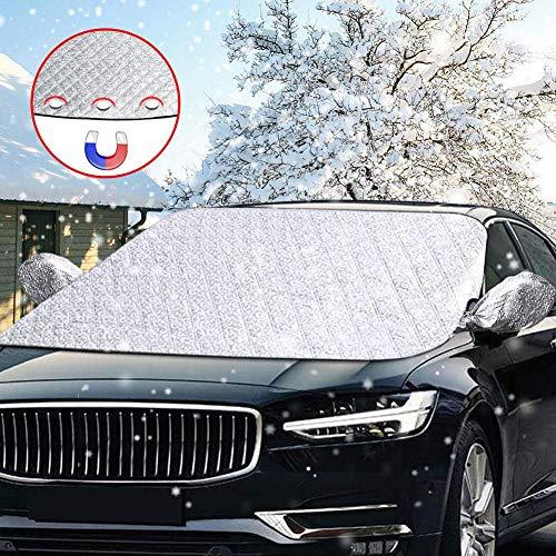 Scheibenabdeckung,DIAOCARE Auto Frontscheibe Abdeckung Frostabdeckung...
