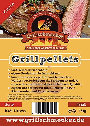 Gillpellets PINI 15KG Räuchern Smoken Holzpellets 100/% Eiche zum Grillen