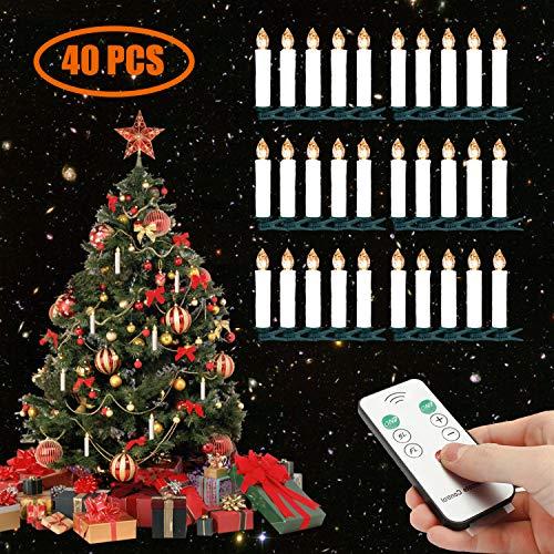 Hochzeit Weihnachtsdeko Geburtstags usw. SunJas 30er Weihnachten Kerzen LED Weihnachtskerzen Kabellos Baumkerze-Set mit Fernbedienung Warmwei/ße Christbaumkerzen f/ür Weihnachtsbaum