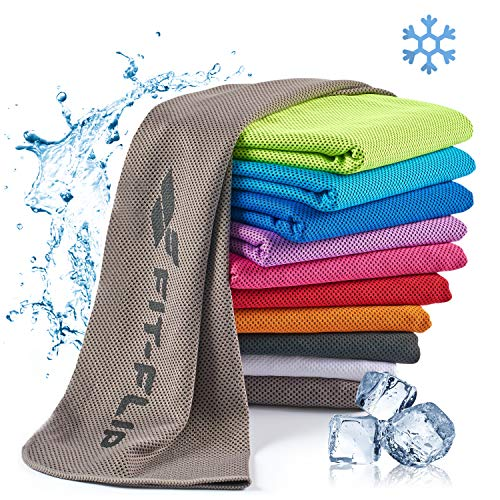 Fit-Flip Kühlendes Handtuch 100x30cm, Mikrofaser Sporthandtuch kühlend,...