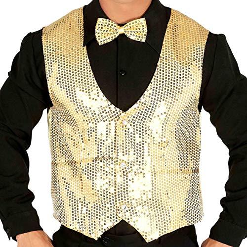 LASPERAL Paillettes Herrenweste Pailletten Weste Jacke M/änner Karneval Fasching Silvester Weihnachten Party Mottoparty DJ Disco Kleidung Clubwear Kost/üm