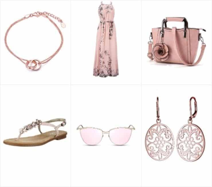 Цветочный модный наряд в розовом с сумочкой на лето