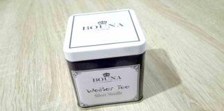 Weißer Tee Box