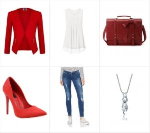 business outfit red17 Sommer