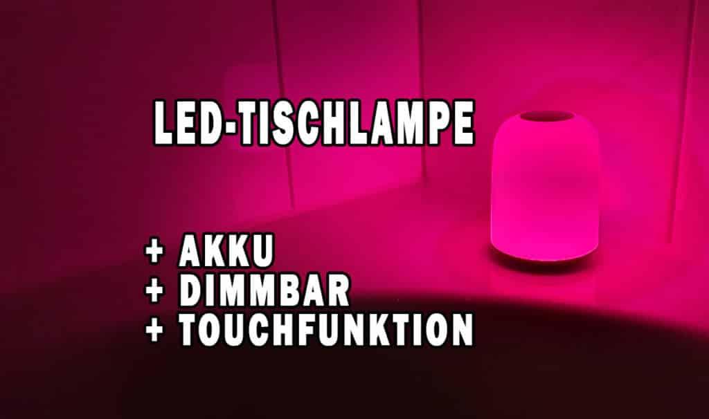 Probado: lámpara de mesa LED con batería de Aukey | Lámpara táctil