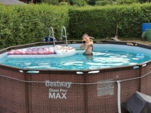 Bestway Steel Pro Max ramme pool 366x100 | Swimmingpool i rotting-look | Planlæg og opbyg den overjordiske pool til haven